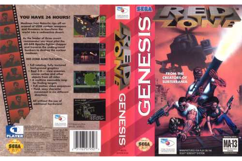 Game: Red Zone [Sega Genesis, 1994, Time Warner ...