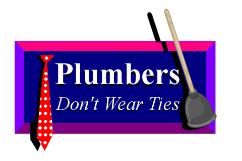 Plumbers Don't Wear Ties logo recreated by neon-knights on ...