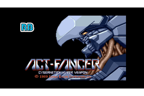 1989 [60fps] Act-Fancer Cybernetick Hyper Weapon DEMO ...