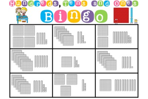Hundreds, Tens and Ones Place Value Bingo Math Game Class ...