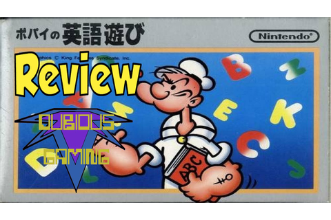 Popeye No Eigo Asobi (FC) Review - Dubious Gaming - YouTube