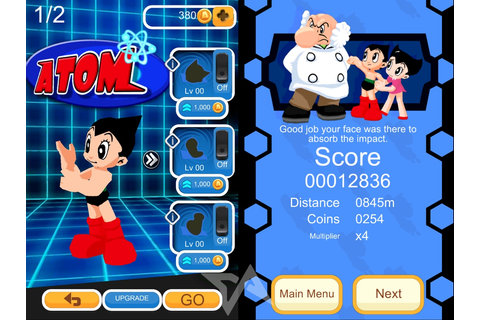 Astro Boy flexes his muscles, leaps into new running game