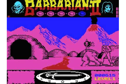 Barbarian II - The Dungeon of Drax MSX Disc Gameplay video ...
