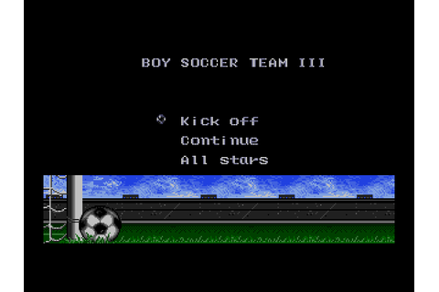 Tecmo Cup Football Game (1992) by Tecmo Mega Drive game
