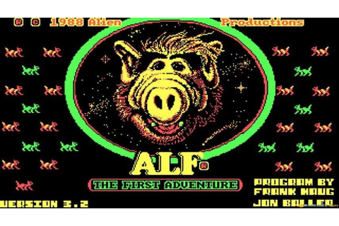 Alf gameplay (PC Game, 1987) - YouTube
