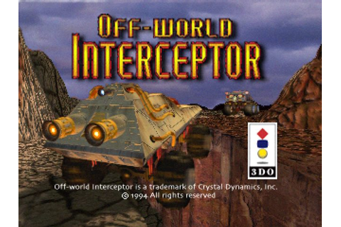 Off-World Interceptor (1994) by Crystal Dynamics 3DO game