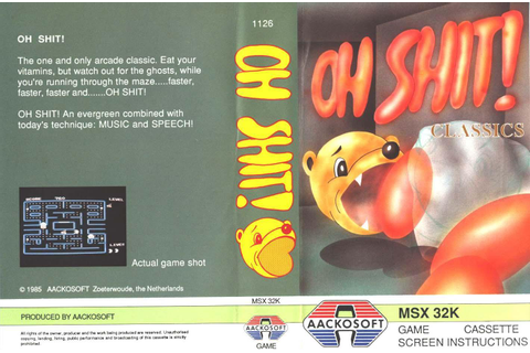 Oh Shit! (1985, MSX, Aackosoft) | Releases | Generation MSX