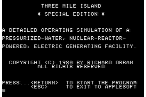 Download Three Mile Island (Apple II) - My Abandonware
