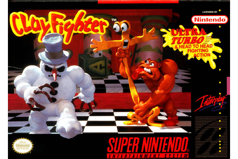 Clay Fighter SNES Super Nintendo
