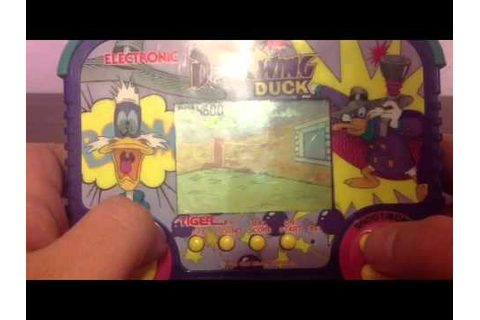 Darkwing Duck handheld tiger electronic game - YouTube