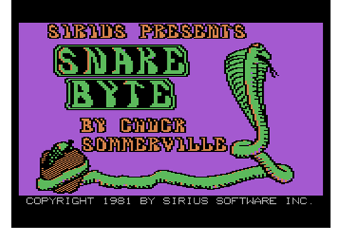 Snake Byte Screenshots for Atari 8-bit - MobyGames