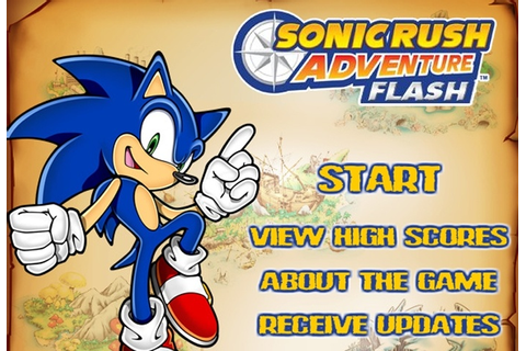 Sonic Rush Adventure Flash Game - Sonic games - Games Loon