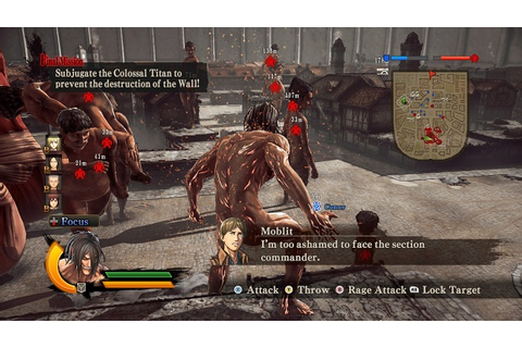 Attack on Titan Wings of Freedom Incl All DLCs MULTi3 ...