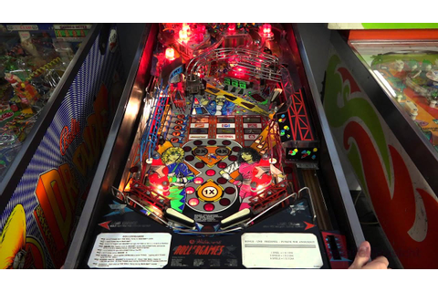 Rollergames (Williams, 1990) Flipper Pinball - YouTube