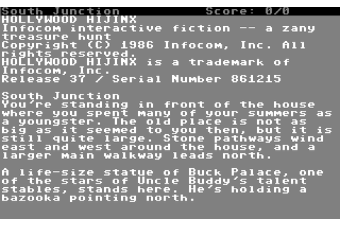 Hollywood Hijinx (1986) by Infocom C64 game
