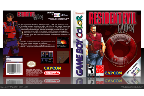 Resident Evil: Gaiden Game Boy Color Box Art Cover by ...