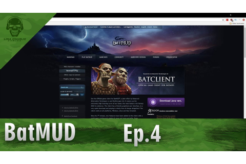 BatMUD Let's Play! Episode 4: Introduction and Collab with ...