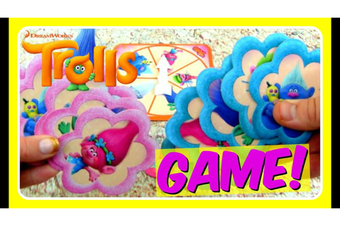 TROLLS Hands Down GAME! Dreamworks Hasbro TROLLS Toys ...
