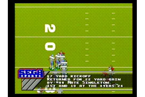 Sega Genesis Prime Time NFL Football Game (Intro) - YouTube