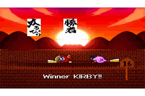 Kirby Super Star Mini Games (Megaton Punch and Samurai ...