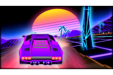 Sunset Racing NEW 80s Game Neon Drive - YouTube