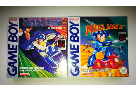 2 Game Boy Games - Mega Man 1 & Mega Man 2- boxed - Catawiki