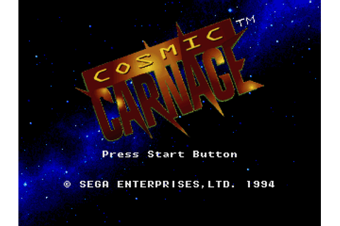 Cosmic Carnage (1994) by Givro / ALU 32X game
