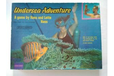Undersea Adventure VINTAGE English board game diver Hans ...