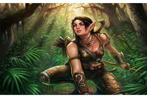 WOMEN WARRIOS - art hunter girl jungle wallpaper ...
