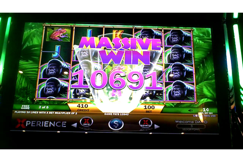 Majestic Gorilla Slot Machine BIG WIN Bonus - YouTube