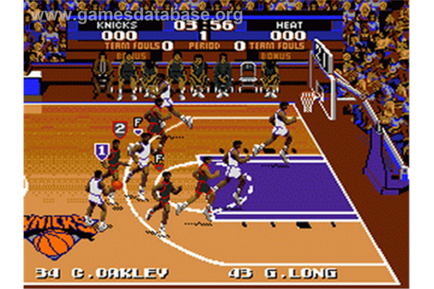 Tecmo Super NBA Basketball - Sega Genesis - Games Database