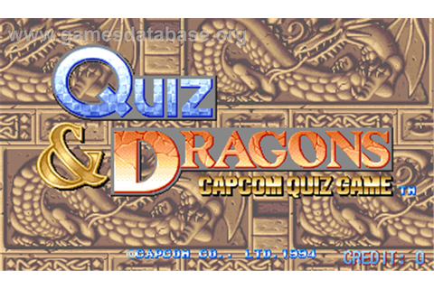 Quiz & Dragons: Capcom Quiz Game - Arcade - Games Database