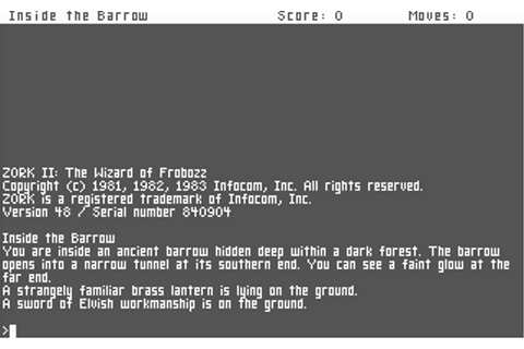 Download Zork II - The Wizard of Frobozz | Abandonia