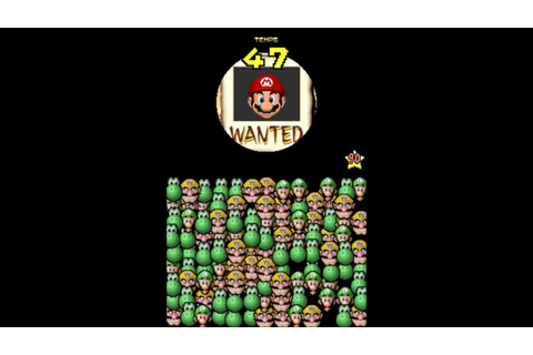 Super Mario 64 DS - Mini Jeu - Wanted - Niv. 1 à 100 ...