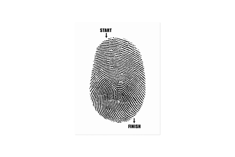 Finger Maze Postcard | Zazzle.com