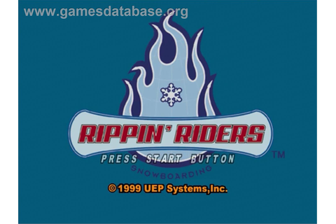 Rippin' Riders Snowboarding - Sega Dreamcast - Games Database