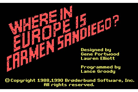 Download Where in Europe is Carmen Sandiego? adventure for ...