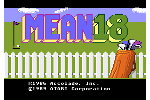 Mean 18 (1989) by BlueSky Software Atari 7800 game