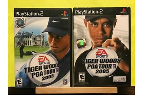 Used ~ Tiger Woods PGA Tour 2003 & 2005 PlayStation 2 ...