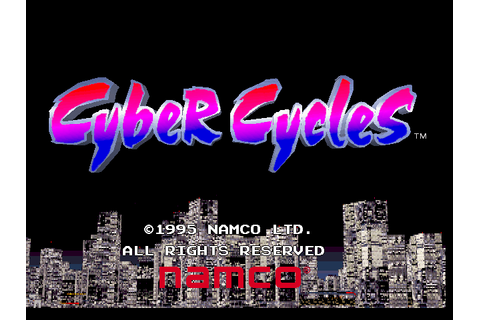 Cyber Cycles, Arcade Video game by NAMCO (1995)