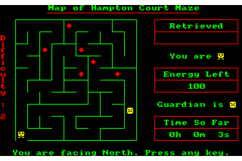 Sultan's Maze (1984) by Gem Soft Amstrad CPC game