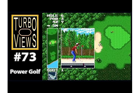 """Power Golf"" - Turbo Views #73 (TurboGrafx-16 / Duo game ..."