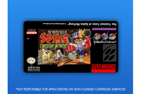 SNES - Twisted Tales of Spike McFang Label | Retro Game Cases
