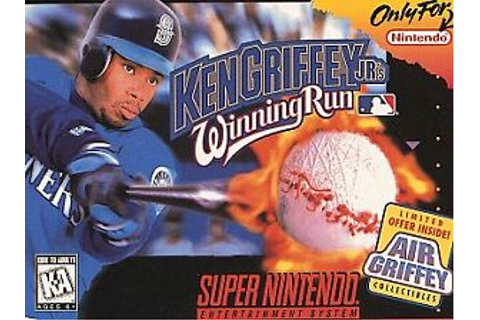 Ken Griffey Jr's Winning Run Super Nintendo SNES Video ...