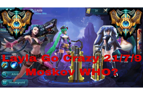 Mobile Legends: Layla Go Crazy Legend Rank Game - YouTube