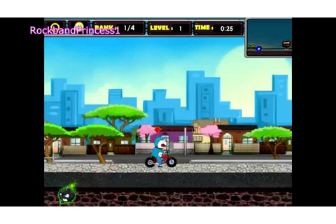 Doraemon Games To Play Doraemon Bicycle Racing Game - YouTube