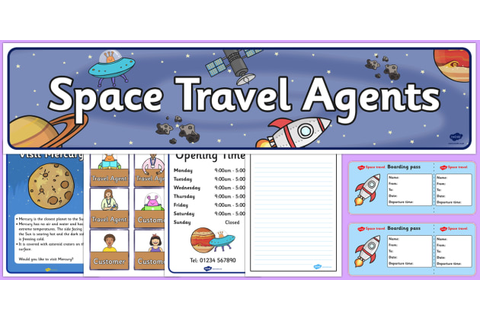 Space Travel Agents Role Play Pack - Space Role Play, travel