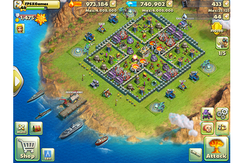 FPSXGames: IOS Games Like Boom Beach