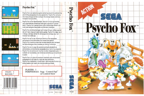Captain Williams =/\= | SEGA Master System | Psycho Fox