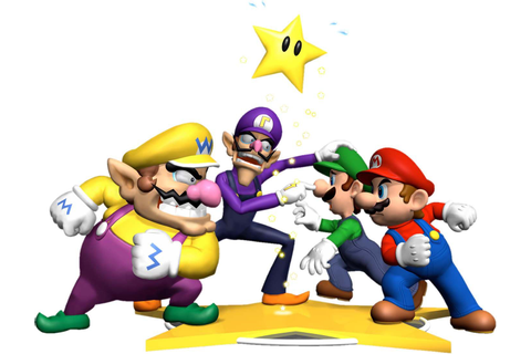 Mario & Luigi vs. Wario & Waluigi | Mario party, Mario ...